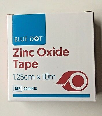 1.25CM X 10M ZINC OXIDE TEARABLE STRAPPING TAPE -  IDEAL FOR SPORTS ENVIRONMENT • 1.50£