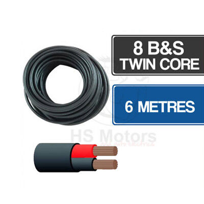 AU49.95 • Buy 8 B&S Twin Core Cable 6 Metre Length
