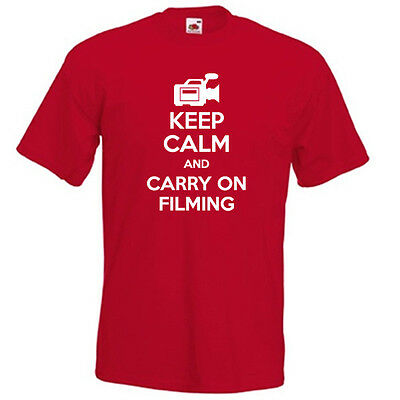 £9.85 • Buy KEEP CALM And Carry On FILMING Film Director Producer Funny Mens Womens T-shirt