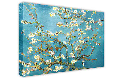 £14.99 • Buy Almond Blossom Van Gogh Large Blue Canvas Oil Painting Picture Re-print / Art