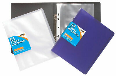 £4.99 • Buy A5 Slim Ring Binder +10 Free Punched Pockets/Accessories Filing Display Folder