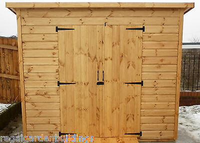 8x6 Good Quality Wooden Pent Roof Garden Tool Storage Shed  • 668£