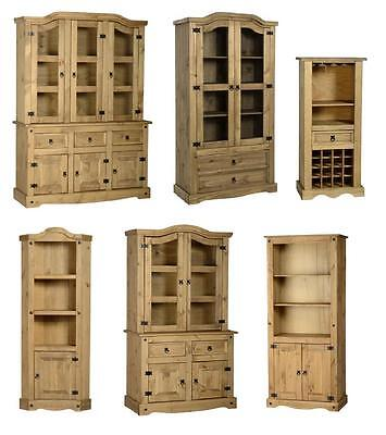 Mexican Pine Corona Display Units  Buffet Hutch Cabinet • 98.99£