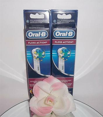 AU47.28 • Buy Oral-B Floss Action Replacement Brush Heads Toothbrush Refills 6 Pack