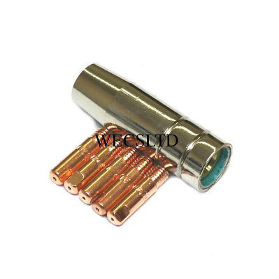 Cebora 130 Mig Gas Shroud / Nozzle & 5 X Contact Tips  • 9.70£