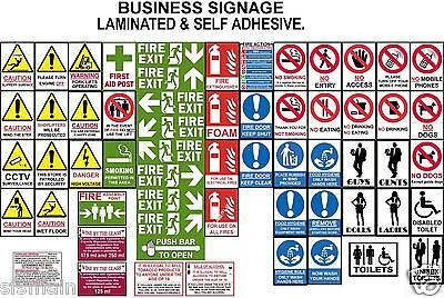 £1.25 • Buy Health Safety Signs Fire Hygiene Warning Caution Smoking Kitchens Flats Shops