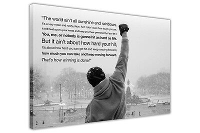£9.99 • Buy Rocky Balboa Quote Large Canvas Wall Art Prints / Picture / Print Boxing Movie
