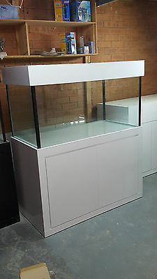 AU1265 • Buy 4ft X 2ft X 2FT Aquarium- Glass Fish Tank Modern Style Cabinet,Hood And Base New