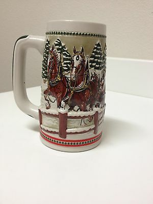 $ CDN26.42 • Buy 1984 Budweiser Clydesdales With Covered Wagon Beer Stein