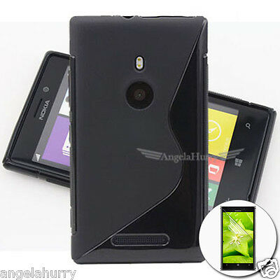AU3.93 • Buy Premium S Curve Soft Case Cover For Nokia Lumia 925+Screen Protector