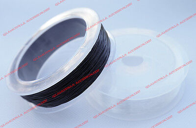 $8.99 • Buy 0.5mm 0.8mm SUPERIOR Strong Stretchy Round Elastic Cord Beading Clear Black USA