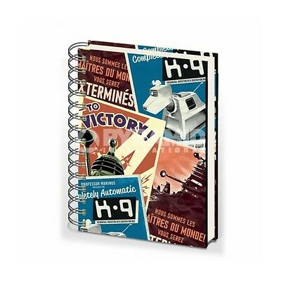 Retro Doctor Who A5 Notebook Brand New Great Gift School Office • 8.99£