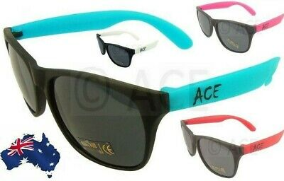 AU5.70 • Buy ACE Mens Womens Sunglasses~Black Frame Coloured Arms~Matt Recycled