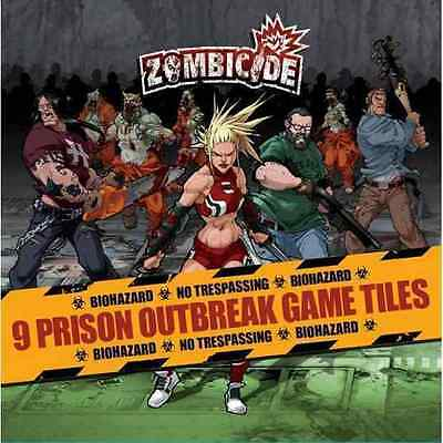 AU28.29 • Buy Zombicide: 9 Prison Outbreak Game Tiles (New)