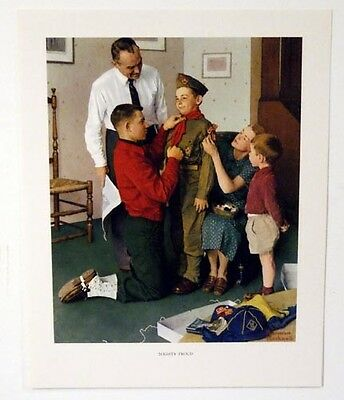 $ CDN20.75 • Buy Vintage 1960's Norman Rockwell Mighty Proud Boy Scout Print