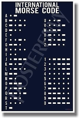 $9.99 • Buy Morse Code Navy - NEW Military POSTER