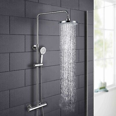£69.99 • Buy Helen Modern Round Thermostatic Wall Mounted Dual Control Riser Shower Mixer