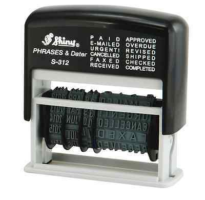 £9.99 • Buy Self Inking Ink 12 In 1 Rubber Date Stamp PAID, E-MAILED, URGENT!, CANCELLED