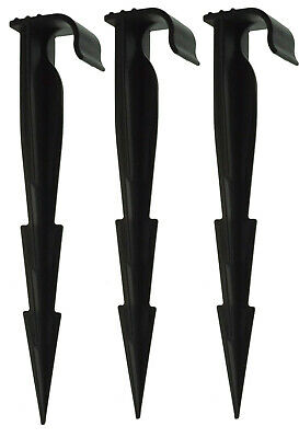 GROUND STAKES FOR 13/16mm IRRIGATION PIPE, POROUS PIPE, GARDEN HOSE & DRIP LINE • 9.54£