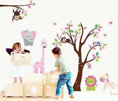 Kids Owl Tree Vinyl Bedroom, Childrens's Bedroom Wall Stickers • 9.99£