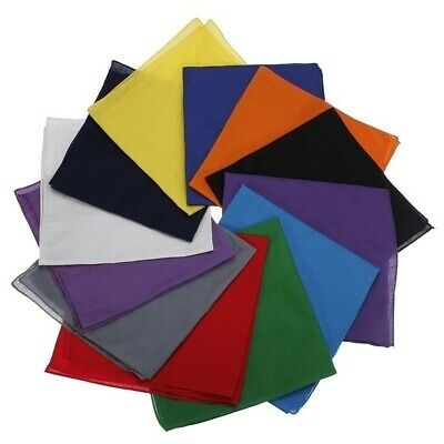 AU4.80 • Buy PLAIN BANDANA 100% COTTON Head Wrap Bandanna Many Colours Scarf New Summer Durag