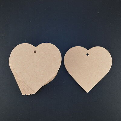 Wooden Love Hearts Craft Shapes 3mm Mdf 80 Mm Wide  Wedding Favours Tags • 1.95£