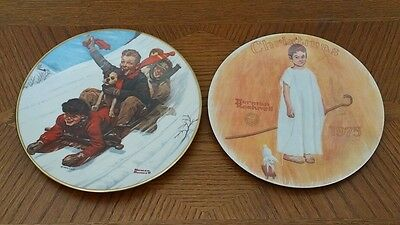 $ CDN12.64 • Buy Lot Of 2 Norman Rockwell Collectors Plates