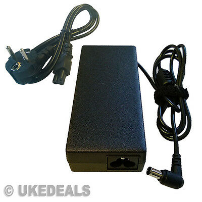 For Sony Vaio Vgn-fw Vgn-fs550 Vgp-ac19v33 Adapter Charger 90w Eu Chargeurs • 18.92£