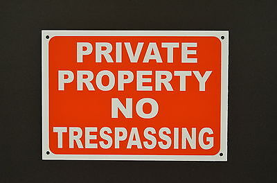 Private Property No Trespassing Plastic Or Metal Sign Or Sticker 2 Sizes • 3.99£