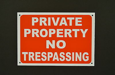£2.89 • Buy PRIVATE PROPERTY NO TRESPASSING Sign Or Sticker 200x150 Or 300x200 Access Entry