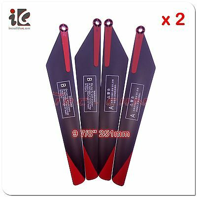 £8.65 • Buy 2 Set 9 7/8 Inch Main Blades For Vitality JJ-H13 88832 RC Helicopter Spare Parts