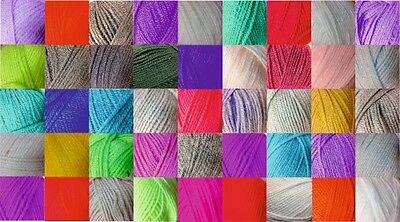 Double Knitting DK Wool Woolcraft 100% Acrylic 40 Shades - Buy 10 Get 5% Off! • 1.75£