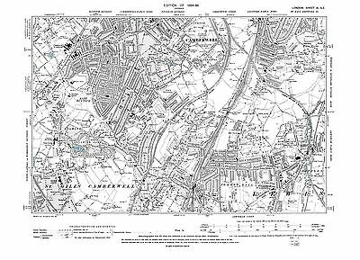 £17.99 • Buy Old Map Camberwell (S), East Dulwich, Forest Hill Etc 1896 London Repro 11-SE