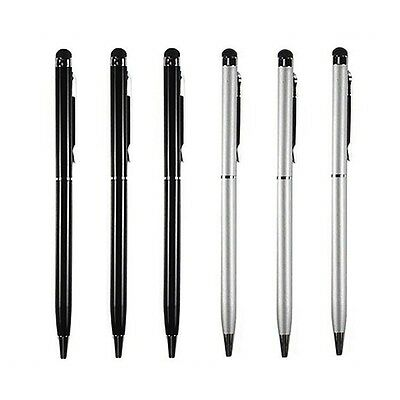 $4.59 • Buy 3XBlack+3XSilver 2-in1 Touch Screen Stylus Ballpoint Pen For Smart Phones Tablet