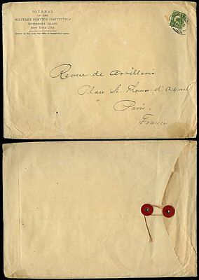 USA 1912 MILITARY SERVICE JOURNAL 2nd CLASS PRINTED MATTER...STRING TIE ENVELOPE • 20£