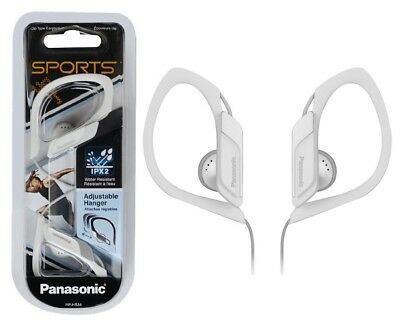 Panasonic In Ear Clip Type Water Resistant Sports Gym Headphones RP-HS34 - White • 10.55£