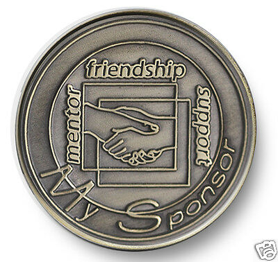 $5.99 • Buy Bronze Handshake Sponsor  AA/NA 12 Step Program Recovery Coin/ Chip/Token