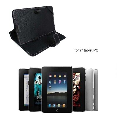 AU11.99 • Buy Universal PU Leather Cover Case Stand For 7 Inch Tablet PC MID EReader Epad Blk