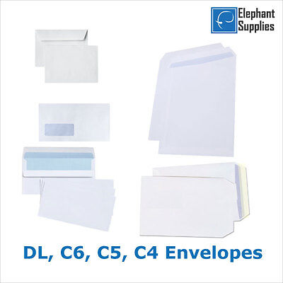 £17.59 • Buy High Quality White Self Seal Envelopes PLAIN DL C4 100gsm Strong Paper