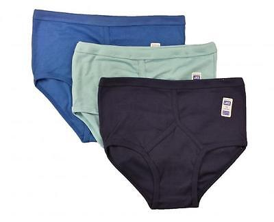 6 Pairs Men's Y-Fronts Underpants, 100% Cotton Underwear, M L XL XXL Blue/Navy • 9.95£