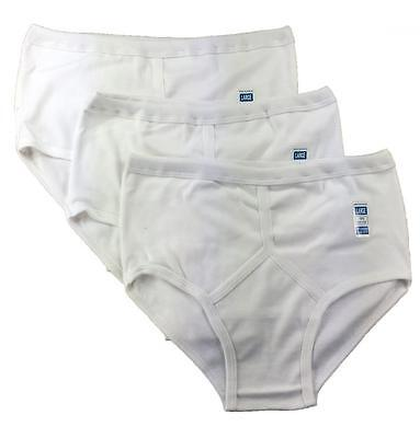 6 Pairs Men's Y-Fronts Underpants, 100% Cotton Underwear, M L XL XXL White • 8.95£