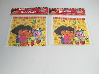 Dora The Explorer Party Favor Loot Gift Bags -- Lot Of 2 Packs Party Supplies • 6.31£