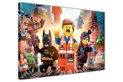 £14.99 • Buy Pop Art Lego Movie Canvas Wall Art Photos Kids Posters Pictures Wall Prints