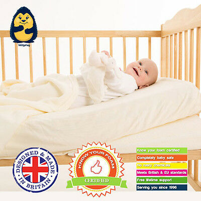 £26.99 • Buy Cot Bed Wedgehog® Reflux Wedge/Pillow (70cm) Includes Free Bundled Reflux Guide