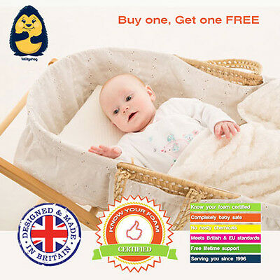 £28 • Buy 2 X 28cm Moses Basket Wedgehog® Reflux Wedge/Pillow - With Free Bundled Guide