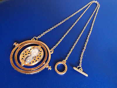 AU12.99 • Buy Harry Potter Hermione Granger Gold Tone Hourglass Necklace Pendant Time Turner