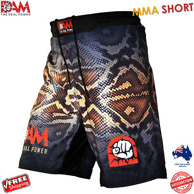 AU34.19 • Buy DAM Pro MMA Fight Shorts SNAKE SKIN UFC Cage Fight Grappling Muay Thai Boxing