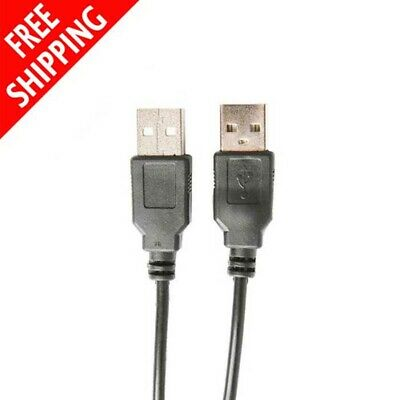AU3.39 • Buy USB Extension Cable Type A Male To A Male Cord Black 2M USB 2.0