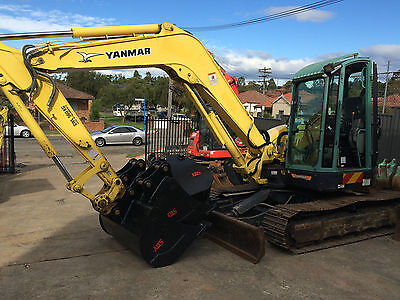 AU55000 • Buy 2011 Yanmar Vio75-c 8 Tonne Excavator With Four Buckets  Only 3700 Hours
