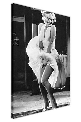 Canvas Wall Art Pictures Marilyn Monroe Over Subway Photo Hollywood Prints Decor • 9.99£
